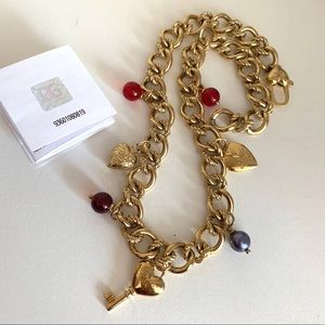Dolce & Gabbana gold charm necklace
